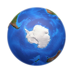 Wall Mural - Antarctica from space, with high bump effect