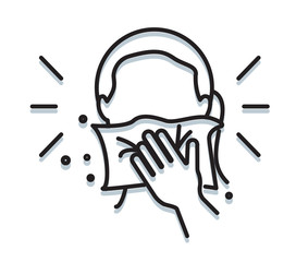 Personal Hygiene - Cover Mouth while sneezing - Icon