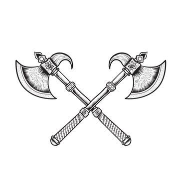 Axe weapon vector illustration art