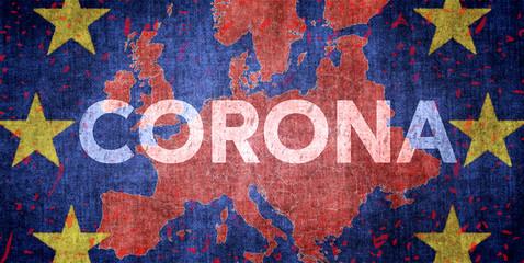 Coronavirus in Europa Wall mural