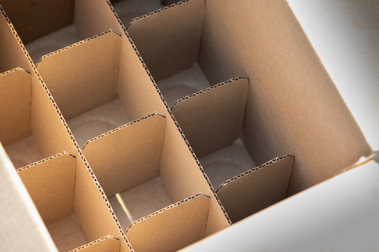 cardboard partition for beverage or spray bottles. packaging concept.