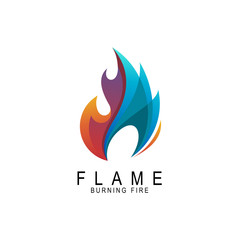 Fire logo ,Logo and Abstract web Icon and fire vector identity symbol. Modern logotype icon