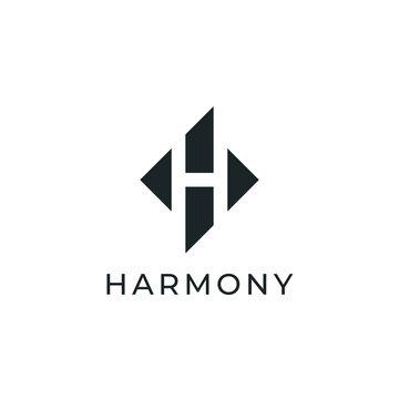 Vector Letter H Logo Design Template