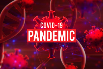 blood dna of covid-19 structure coronavirus crisis outbreak pandemic biohazard cell atom disease...