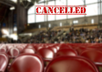 Sport event cancelled  due to coronavirus