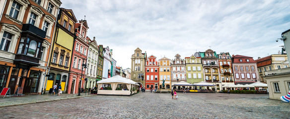 Printed kitchen splashbacks Eastern Europe Central Market Square in Poznan, Poland