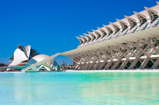 VALENCIA, SPAIN - JUNE 20, 2015:  The city of the Arts and Sciences in Valencia, Spain.