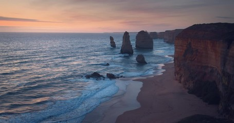 Wall Mural - Twelve Apostles, after sunset, Australia