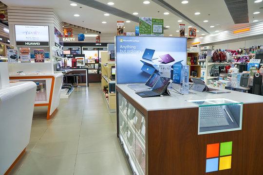 HONG KONG, CHINA - CIRCA JANUARY, 2019: interior shot of Fortress store in Elements shopping mall.
