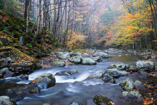 Autumn on the Middle Prong of the Little River, Great Smoky Mountains National Park, Tennessee.