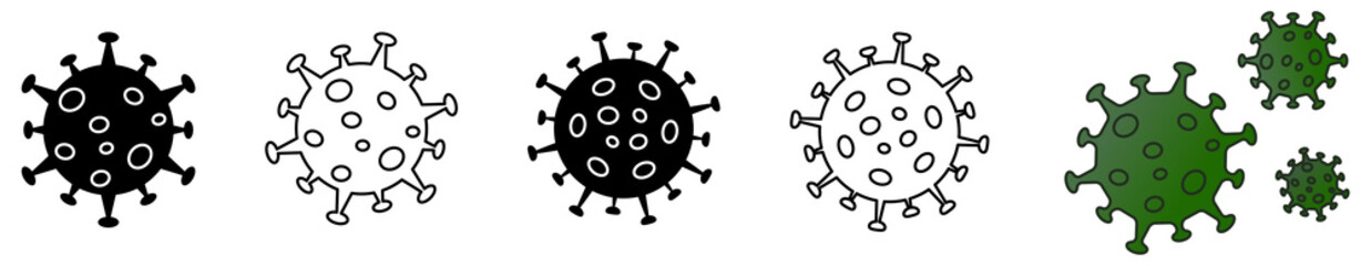Simple virus drawing icon set, can be used as illustration for ncov coronavirus / covid 19 Fototapete