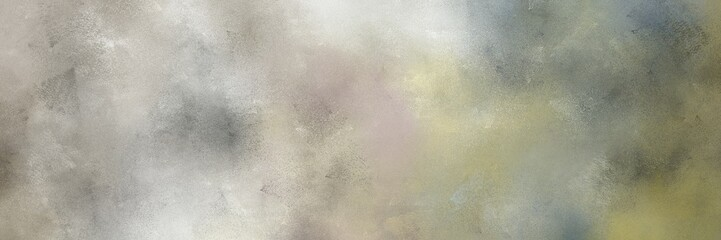 Papiers peints Retro painted grunge horizontal background header with dark gray, light gray and dark olive green color