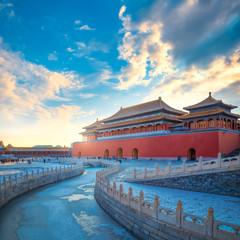 Wumen (Meridian Gate) of the Forbidden City in Beijing, China