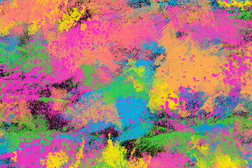 An abstract grunge neon paint texture background image.