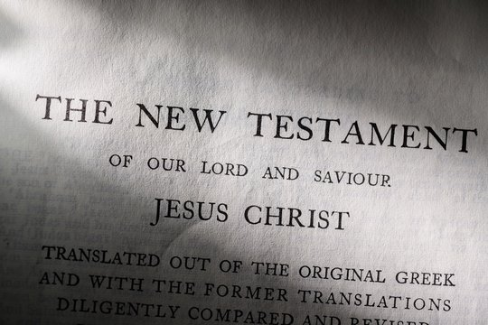 Intro page to King James Bible New Testament