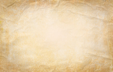 Old paper background. Old crumpled paper texture vintage retro newspaper