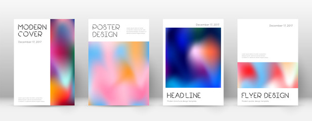 Flyer layout. Minimal divine template for Brochure Wall mural