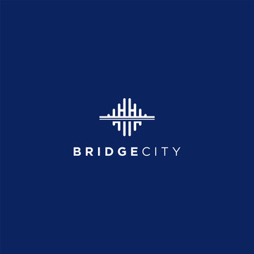VECTOR LOGO WITH MODERN, UNIQUE AND CLEAN BRIDGE CONCEPTS