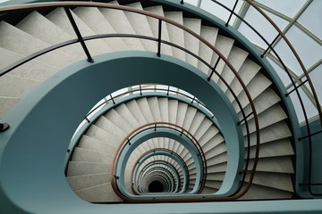 Photo sur Aluminium Spirale spiral stairway to heaven