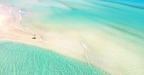 Poster Vert corail tropisches Strandparadies