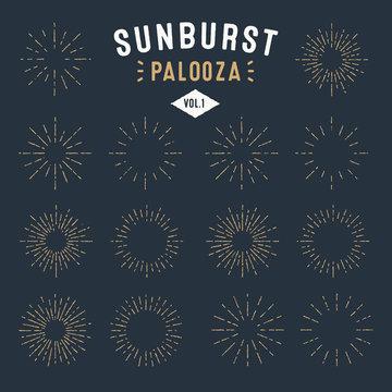'Sunburst Palooza' Set of Vintage Sunburst frames