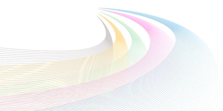 流線型の波のイラスト
