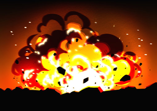 背景素材:爆発 イラスト