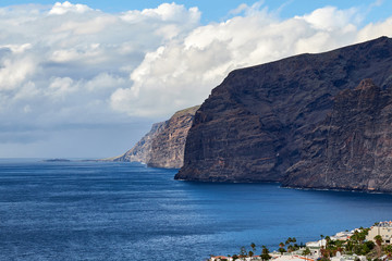 View of Los Gigantes cliffs. Tenerife, Canary Islands.