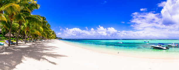 Best tropical beach destination - paradise island Mauritius