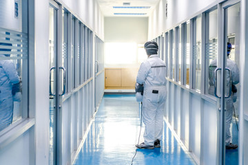 coronavirus covid 19 infected patient in quarantine room. The control of the virus. World Health Organization WHO introduced new official name for Coronavirus disease named COVID-19
