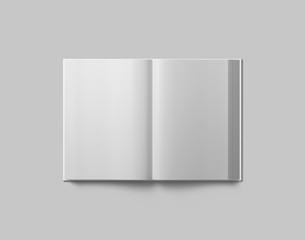 Hardcover book mockup. Open book.