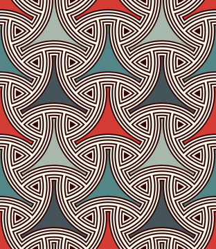 Seamless pattern with traditional japanese ornament. Bishamon armor motif. Repeated interlocking figures.
