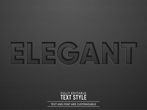 Elegant Engraved Black Leather Text Effect