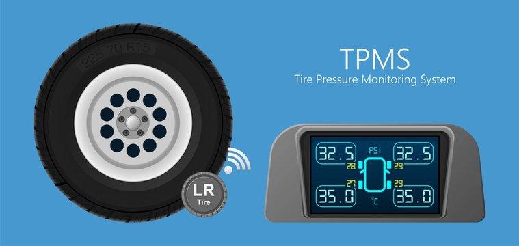 Wireless Car Digital Pressure Tyre Gauge Monitoring TPMS system
