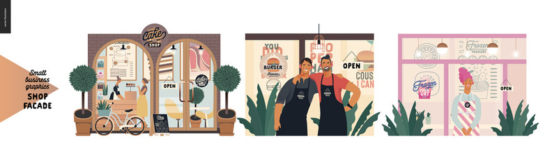 Facades - small business graphics