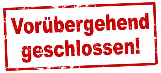 Stores à enrouleur Pierre, Sable nlsb1345 NewLongStampBanner nlsb - german label / banner - Schild mit der Stempel Aufschrift: Vorübergehend geschlossen. - new-version - 2komma2zu1 xxl g9230