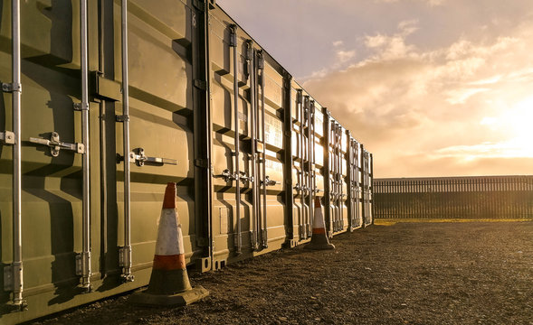 Storage Container Sunset