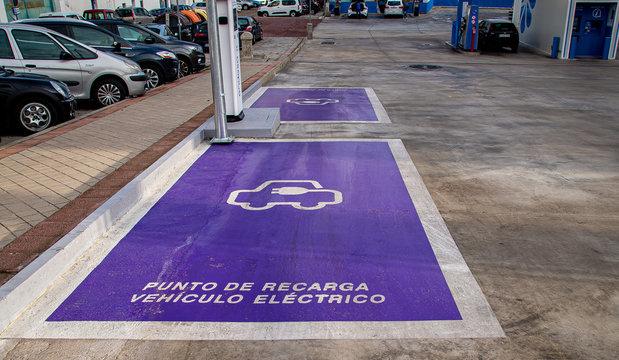 Punto de recarga de vehículo electrico