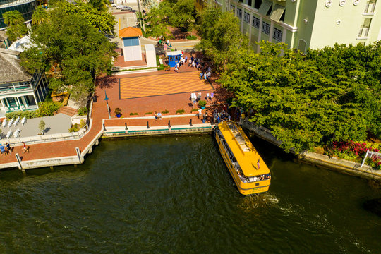 Aerial photo water taxi Fort Lauderdale FL