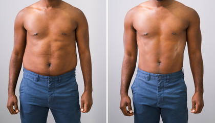 Man Before And After Weight Loss Fotobehang
