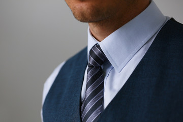 Tie on shirt suit business style man fashion shop selling business clothing attributes