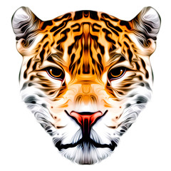 Tiger head with creative abstract element on background