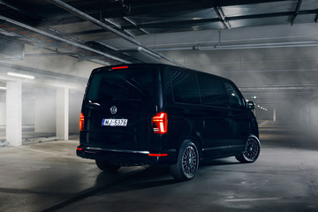 Volkswagen Multivan in the underground parking