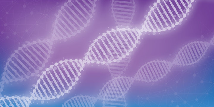 DNA chromosome concept. Science technology vector background