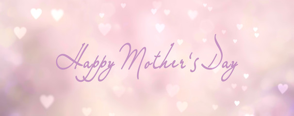 Fototapete - happy mothers day background banner