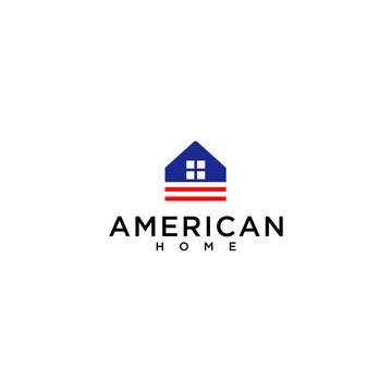 abstract american house vector logo