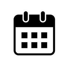 カレンダーのフラットアイコン