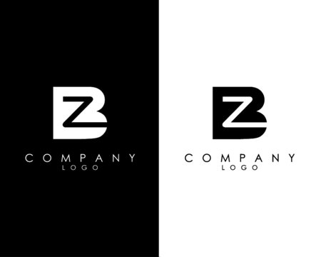 Initial Letters BZ, ZB abstract company Logo Design vector