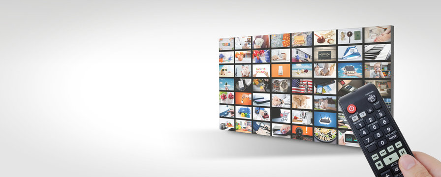 Television streaming, TV multimedia panel banner
