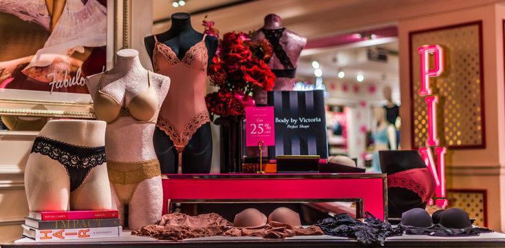 Interior of Victoria's Secret store